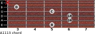 Aº11\13 for guitar on frets 5, 6, 6, 5, 3, x