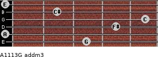 A11/13/G add(m3) for guitar on frets 3, 0, 4, 5, 2, 0