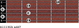 A11/13/Gb add(7) guitar chord