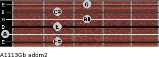 A11/13/Gb add(m2) guitar chord