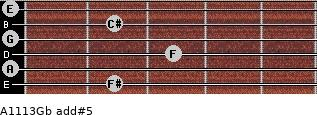 A11/13/Gb add(#5) guitar chord