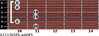 A11/13b5/Eb add(#5) guitar chord