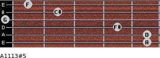 A11/13#5 for guitar on frets 5, 5, 4, 0, 2, 1