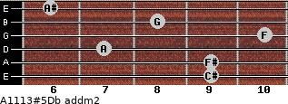 A11/13#5/Db add(m2) guitar chord