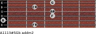 A11/13#5/Gb add(m2) guitar chord
