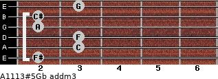 A11/13#5/Gb add(m3) guitar chord