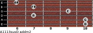 A11/13sus/D add(m2) guitar chord