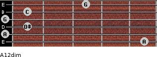 A1/2dim for guitar on frets 5, 0, 1, 0, 1, 3