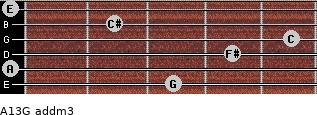 A13/G add(m3) for guitar on frets 3, 0, 4, 5, 2, 0