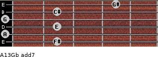 A13/Gb add(7) guitar chord