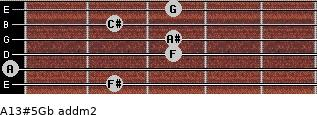A13#5/Gb add(m2) guitar chord