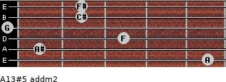 A13#5 add(m2) for guitar on frets 5, 1, 3, 0, 2, 2