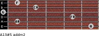 A13#5 add(m2) for guitar on frets 5, 1, 4, 0, 2, 1