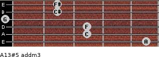 A13#5 add(m3) for guitar on frets 5, 3, 3, 0, 2, 2