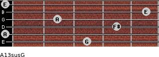 A13sus/G for guitar on frets 3, 0, 4, 2, 5, 0