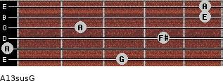 A13sus/G for guitar on frets 3, 0, 4, 2, 5, 5