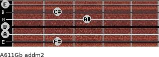 A6/11/Gb add(m2) guitar chord