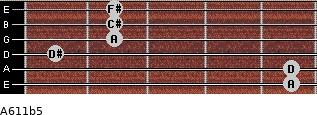 A6/11b5 for guitar on frets 5, 5, 1, 2, 2, 2