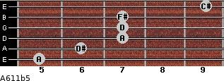 A6/11b5 for guitar on frets 5, 6, 7, 7, 7, 9