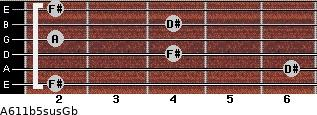 A6\11b5sus\Gb for guitar on frets 2, 6, 4, 2, 4, 2