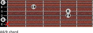 A6/9 for guitar on frets x, 0, 4, 4, 2, 0