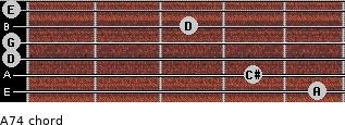A7(4) for guitar on frets 5, 4, 0, 0, 3, 0