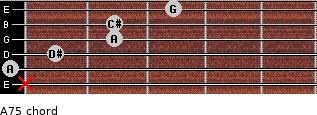 A7(-5) for guitar on frets x, 0, 1, 2, 2, 3