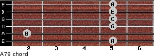 A-7/9 for guitar on frets 5, 2, 5, 5, 5, 5