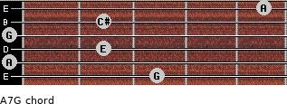A7/G for guitar on frets 3, 0, 2, 0, 2, 5