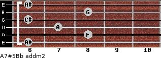 A7#5/Bb add(m2) guitar chord