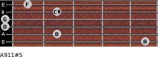 A9/11#5 for guitar on frets 5, 2, 0, 0, 2, 1