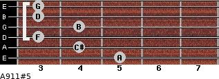 A9/11#5 for guitar on frets 5, 4, 3, 4, 3, 3