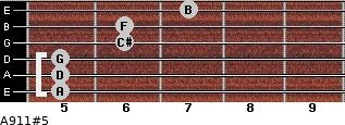 A9/11#5 for guitar on frets 5, 5, 5, 6, 6, 7