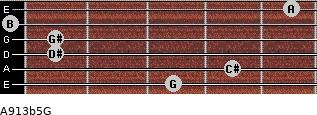 A9\13b5\G for guitar on frets 3, 4, 1, 1, 0, 5