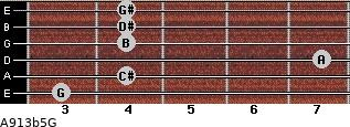 A9\13b5\G for guitar on frets 3, 4, 7, 4, 4, 4