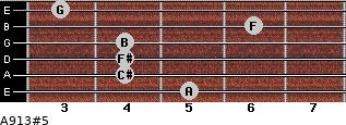 A9/13#5 for guitar on frets 5, 4, 4, 4, 6, 3