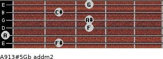 A9/13#5/Gb add(m2) guitar chord
