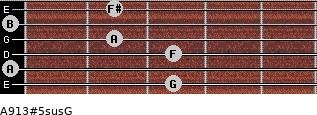 A9/13#5sus/G for guitar on frets 3, 0, 3, 2, 0, 2