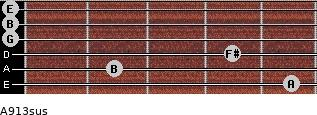 A9/13sus for guitar on frets 5, 2, 4, 0, 0, 0