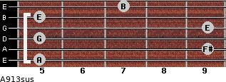 A9/13sus for guitar on frets 5, 9, 5, 9, 5, 7