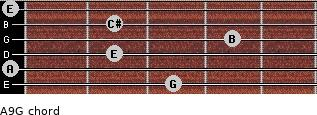 A9/G for guitar on frets 3, 0, 2, 4, 2, 0