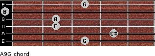 A9/G for guitar on frets 3, 4, 2, 2, 0, 3