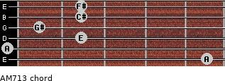 AM7/13 for guitar on frets 5, 0, 2, 1, 2, 2