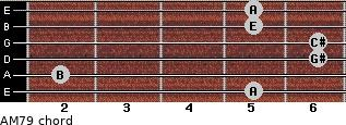AM7/9 for guitar on frets 5, 2, 6, 6, 5, 5