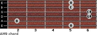 AM9 for guitar on frets 5, 2, 6, 6, 5, 5
