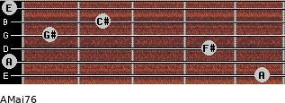 AMaj7/6 for guitar on frets 5, 0, 4, 1, 2, 0