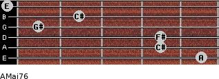 AMaj7/6 for guitar on frets 5, 4, 4, 1, 2, 0