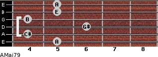 AMaj7/9 for guitar on frets 5, 4, 6, 4, 5, 5