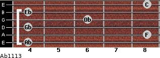 Ab11/13 for guitar on frets 4, 8, 4, 6, 4, 8