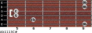 Ab11\13\C# for guitar on frets 9, 6, 5, 5, 9, 9